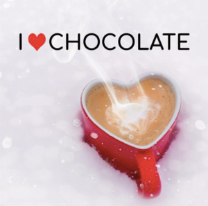 Wishing you hot chocolate and someone to share it with this Valentine's Day! #winterlove #chocolate